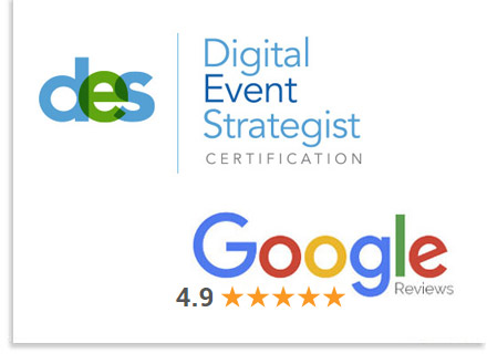 AAE Has a 4.9 Star Google Rating and Certified Experts in Digital, Virtual, and Live-Stream Events.