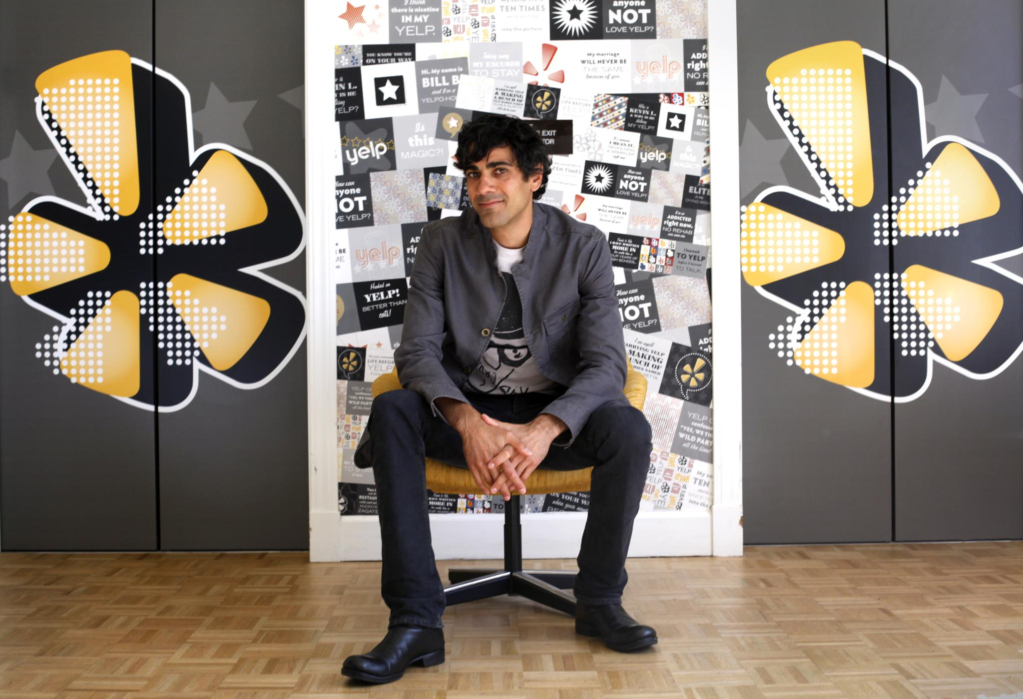 Yelp CEO Jeremy Stoppelman is photographed at the company's headquarters in San Francisco, Calif., Thursday, October 6, 2011. Ran on: 11-18-2011 Yelp CEO Jeremy Stoppelman sits at the company's headquarters in San Francisco.