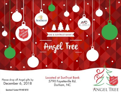 AAE CARES: Flyer for the Angel Tree Project