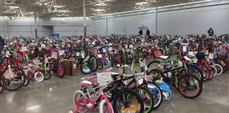 A Bicycle for each Child in the Angel Tree Project by the Durham Salvation Army