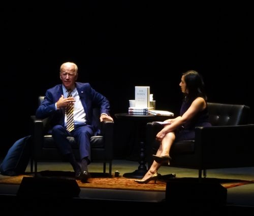 Joe Biden and Celeste Ng