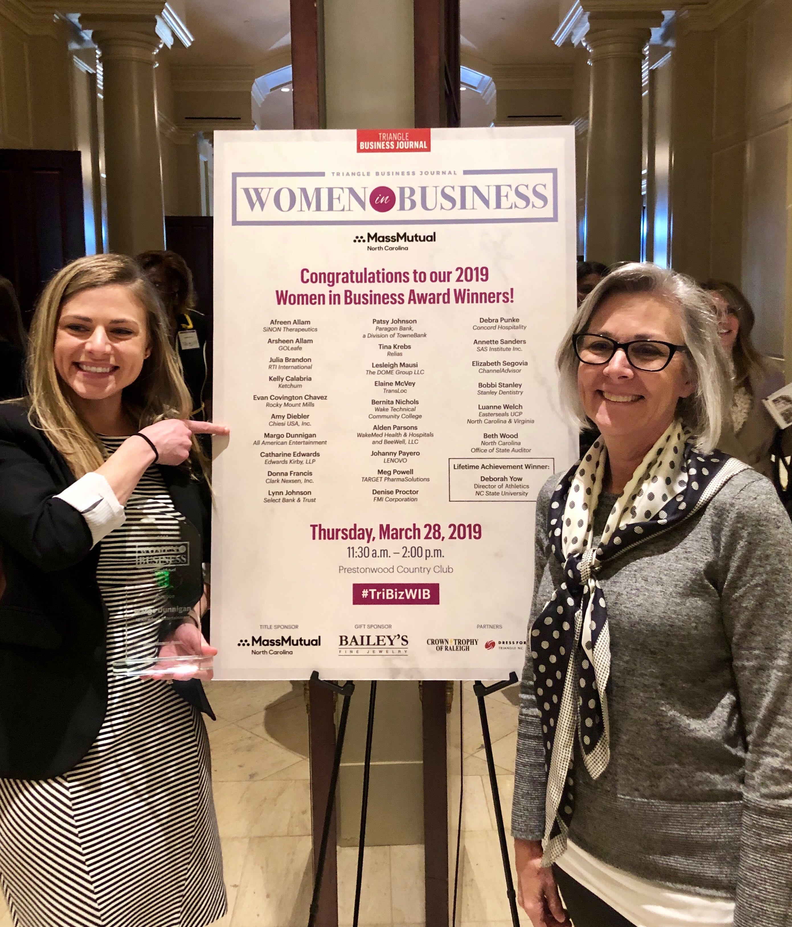 IMG_6961 Margo Dunnigan Honored at 2019 Women in Business Awards