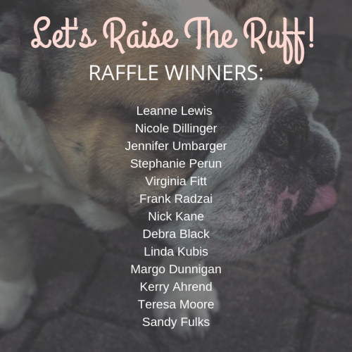 Raise the Ruff Raffle Winners