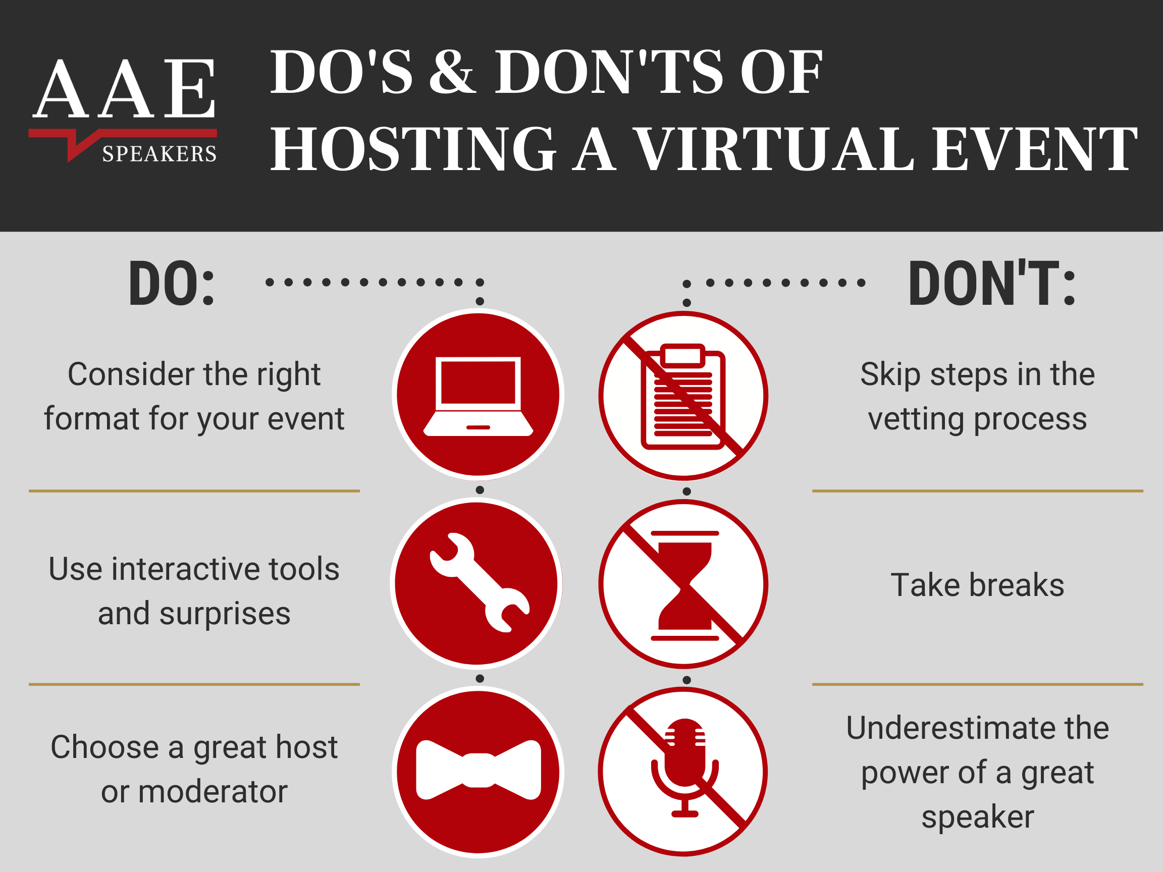 Do's and Don'ts of Virtual Events