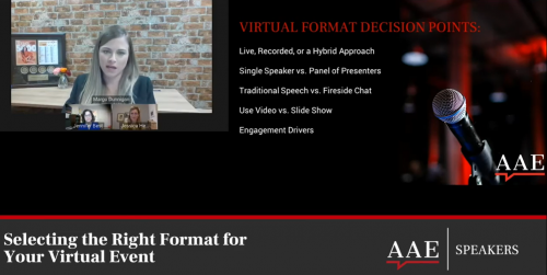 Selecting the Right Format for Your Virtual Event | AAE Speakers Bureau