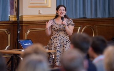 Randi Zuckerberg, Former Marketing Strategist at Facebook, Gives a Speech