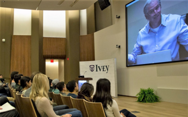 Andy Fastow Speaking to Ivey Business School Students via Webcast